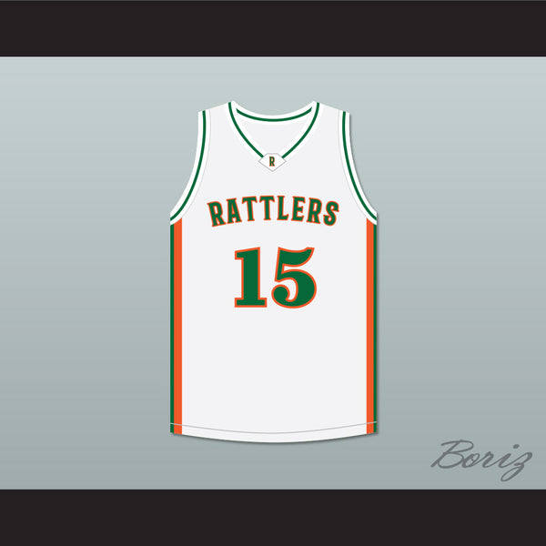 DeMarcus 'Boogie' Cousins 15 LeFlore High School Rattlers White Basketball Jersey