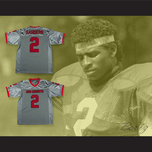 separation shoes ad37f d4ef8 Deion Sanders 2 North Fort Myers High School Red Knights Football Jersey