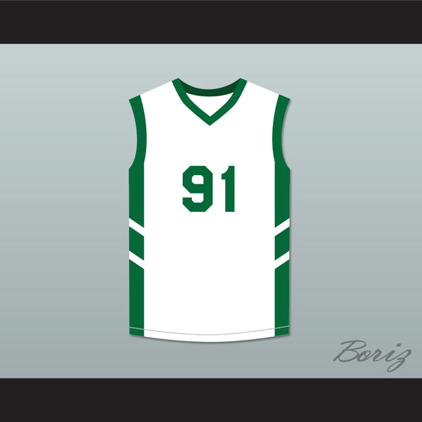 new style ab3bb e0096 Dennis Rodman 91 White Basketball Jersey Dennis Rodman's Big Bang in  PyongYang