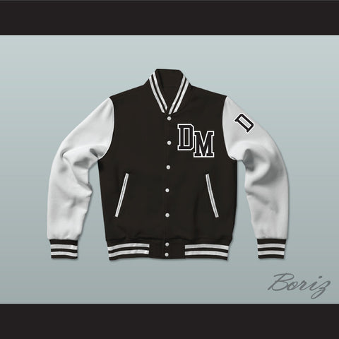 Dirty Money Black Varsity Letterman Jacket-Style Sweatshirt - borizcustom - 1