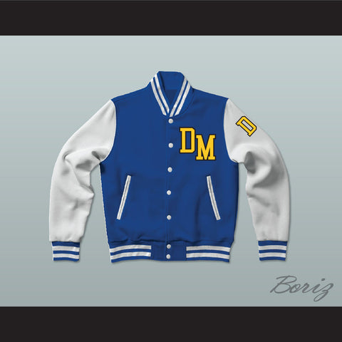 Dirty Money Blue Varsity Letterman Jacket-Style Sweatshirt - borizcustom - 1