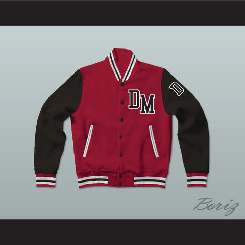 Dirty Money Red Varsity Letterman Jacket-Style Sweatshirt - borizcustom - 1