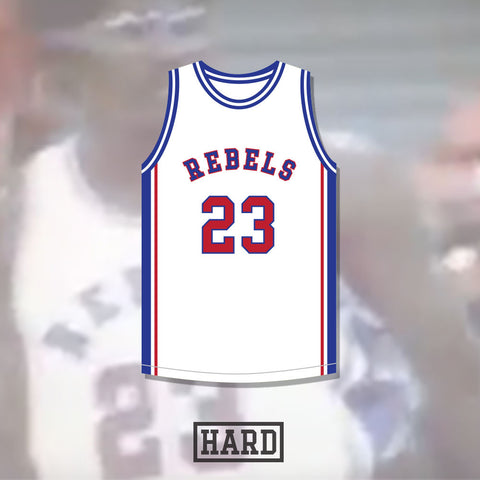 Dontrall McKinney 23 Boston Rebels Basketball Jersey by Hard