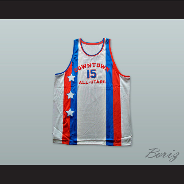 1976 Downtown All Stars 15 Basketball Jersey - borizcustom - 1