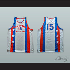 1976 Downtown All Stars 15 Basketball Jersey - borizcustom - 3