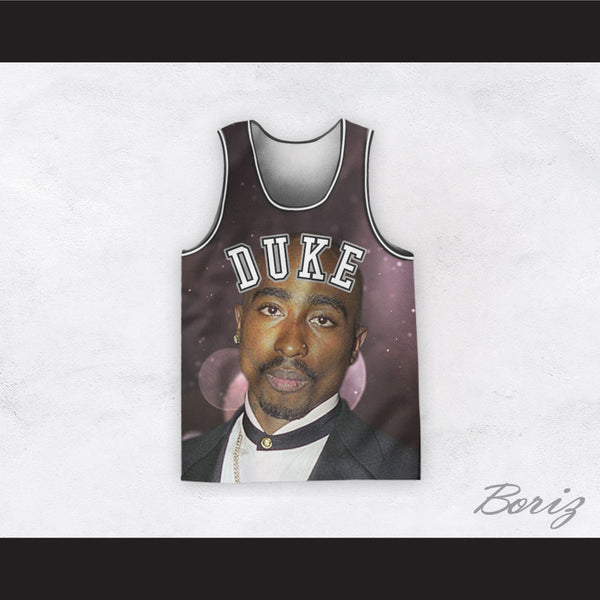 988c0c18394 Tupac Shakur 6 Duke Basketball Jersey Design 1