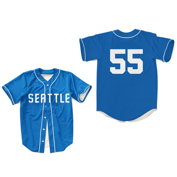 new product 72795 469e5 Kenny Powers 55 Boston Baseball Jersey East & Down Seattle colors