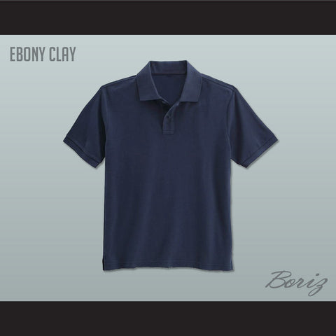 Men's Solid Color Ebony Clay Polo Shirt - borizcustom