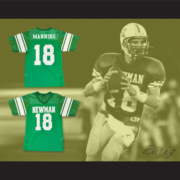 finest selection 9f84c 795c4 Eli Manning 18 Isidore Newman High School Green Football Jersey