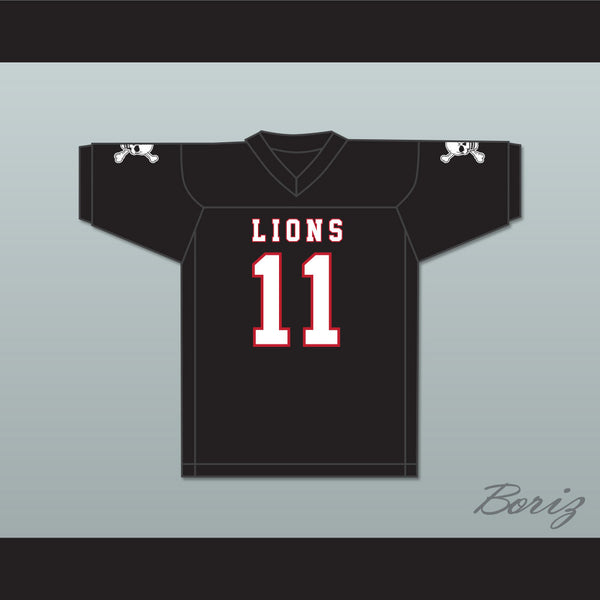 timeless design 54a4d c7a56 Chad Kelly 11 EMCC Lions Black Football Jersey Includes Patches