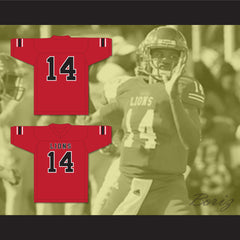 De'Andre Johnson 14 EMCC Lions Red Football Jersey