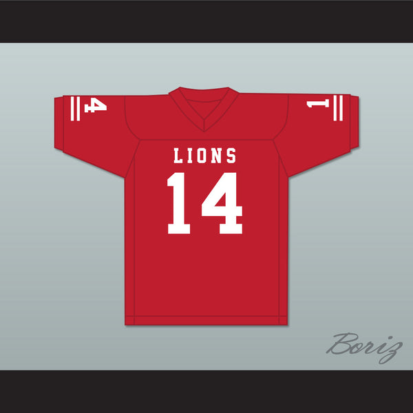 De'Andre Johnson 14 EMCC Lions Red Alternate Football Jersey