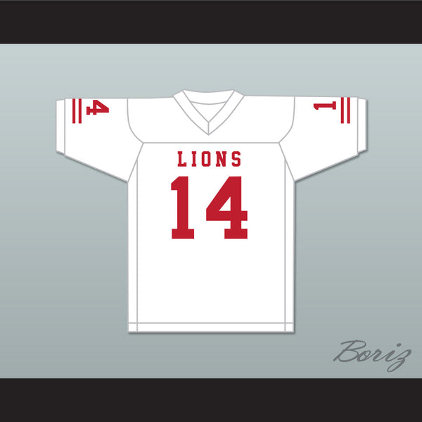 De'Andre Johnson 14 EMCC Lions White Football Jersey