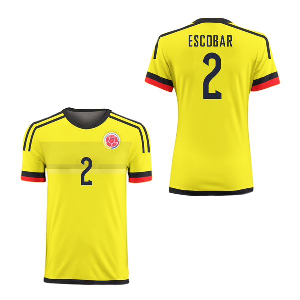 ebb4f78f6c5 Pablo Escobar 2 Colombia Football Soccer Shirt Jersey Colors