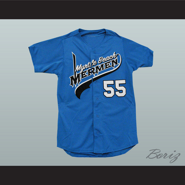 Kenny Powers Eastbound and Down Myrtle Beach Mermen Baseball Jersey New - borizcustom