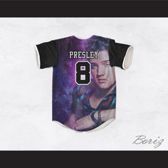 Elvis Presley 8 Night Stars Design Baseball Jersey