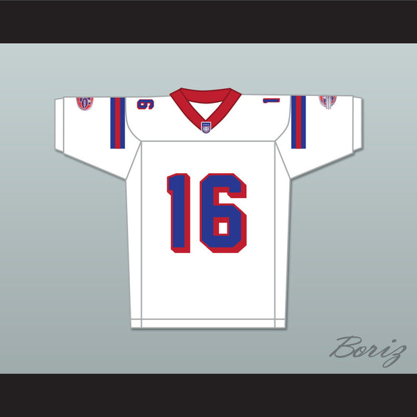6d1ec2f8e1c Product Image Keanu Reeves Shane Falco 16 Washington Sentinels Away Football  Jersey The Replacements Includes League Patch ...