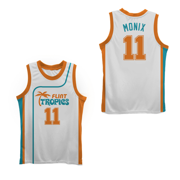 9609b2cc49a Flint Tropics 11 Ed Monix Basketball Jersey Semi Pro Team New Colors