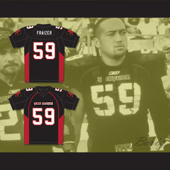Carlucci Weyant 59 Fraizer Mean Machine Convicts Football Jersey Includes Patches - borizcustom