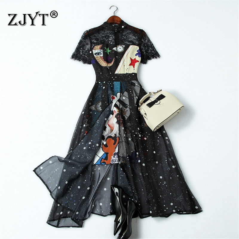Fashion Designer Runway Summer Dress Women Clothes 2019 New Elegant Sh Borizcustom