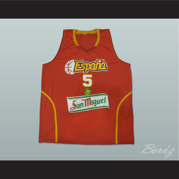 Rudy Fernández Basketball Jersey Spain New All Sizes - borizcustom - 1