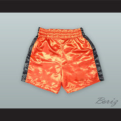 Floyd 'Money' Mayweather Jr. Orange Boxing Shorts