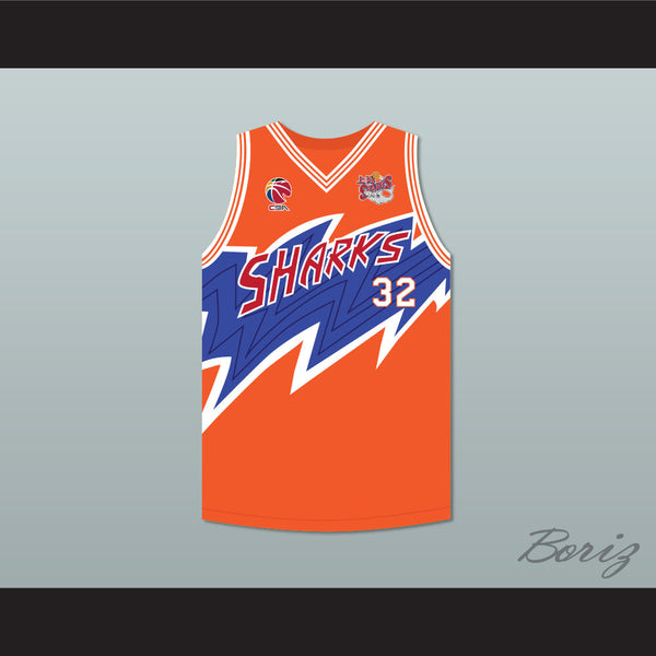 pretty nice 62c0d 5be23 Jimmer Fredette 32 Shanghai Sharks Orange Basketball Jersey with CBA &  Sharks Patch