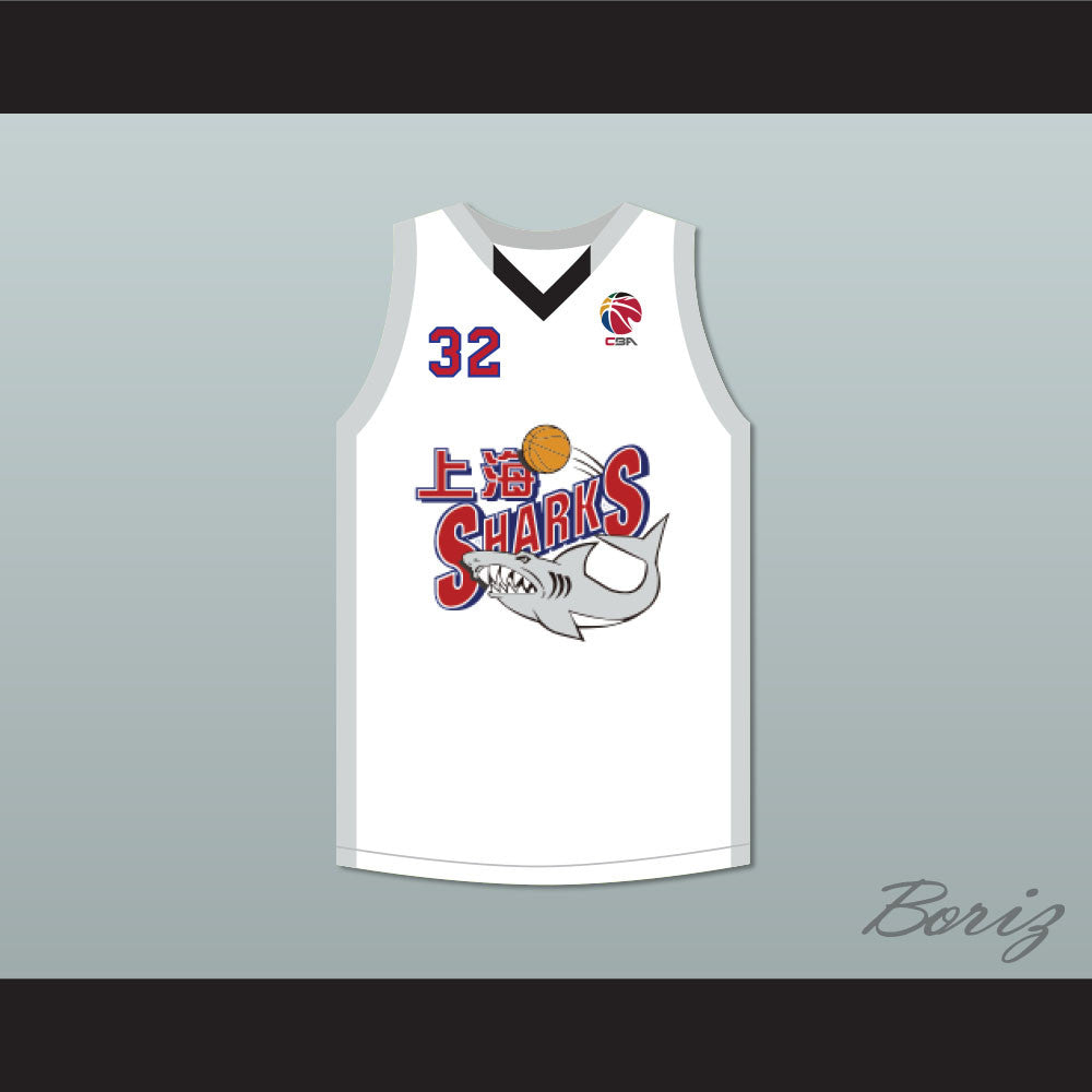 53c7b007c4f0 Product Image Jimmer Fredette 32 Shanghai Sharks Alternate White Basketball  Jersey with CBA Patch Jimmer Fredette 32 Shanghai Sharks Alternate White ...