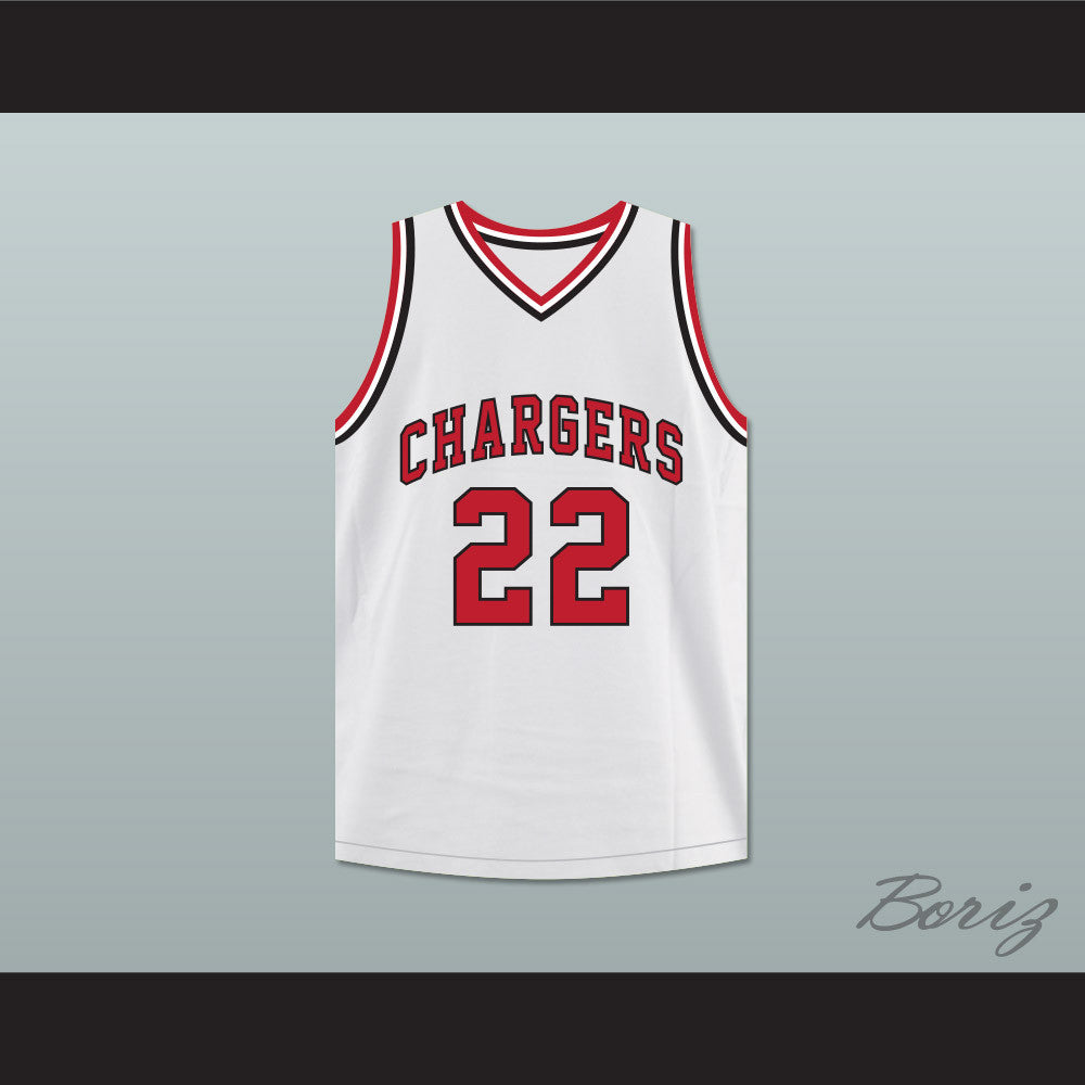William Gates 22 Chargers High School White Basketball