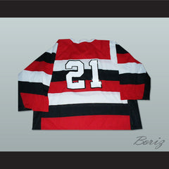 Germany National Team Striped Hockey Jersey Any Player or Number - borizcustom