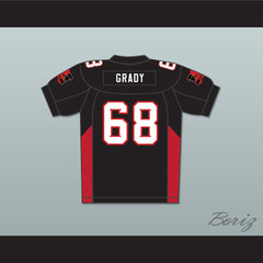 68 Grady Mean Machine Convicts Football Jersey Includes Patches - borizcustom