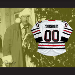 Clark Griswold Chicago Hockey Jersey Christmas Vaction Chevy Chase - borizcustom