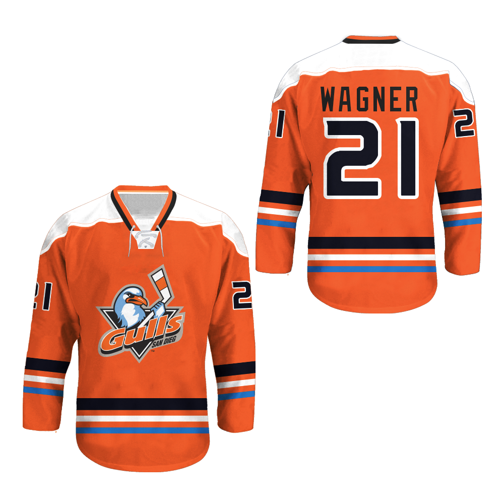 San Diego Gulls Hockey Jersey Any Player Or Number New