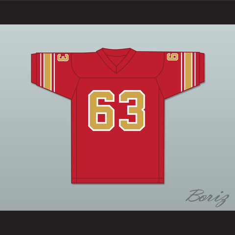 1983 USFL George Gilbert 63 Philadelphia Stars Road Football Jersey