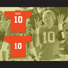 Eric Christian Olsen Nick Brady 10 Gerald R. Ford High School Football Jersey Fired Up