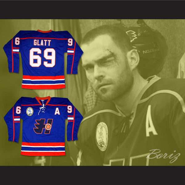 ... Goon Doug Glatt Halifax Highlanders Hockey Jersey Includes EMHL and A  Patches - borizcustom - 4 301d68a1b62