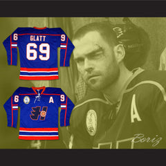 Goon Doug Glatt Halifax Highlanders Hockey Jersey Includes EMHL and A Patches - borizcustom - 4