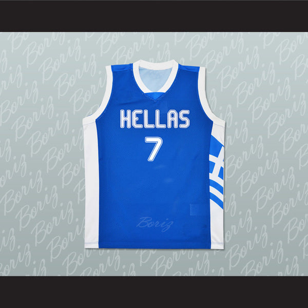 Greece Vassilis Spanoulis 7 Basketball Jersey Stitch Sewn Any Player or Number - borizcustom