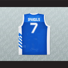Greece Vassilis Spanoulis 7 Basketball Jersey Stitch Sewn Any Player or Number - borizcustom - 2