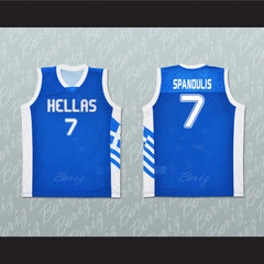 Greece Vassilis Spanoulis 7 Basketball Jersey Stitch Sewn Any Player or Number - borizcustom - 3
