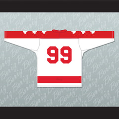 Wayne Gretzky 99 Seneca Nationals Hockey Jersey Metro Junior B Hockey League Stitch Sewn - borizcustom - 2