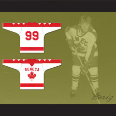 Wayne Gretzky 99 Seneca Nationals Hockey Jersey Metro Junior B Hockey League Stitch Sewn - borizcustom - 3