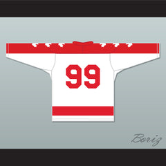 Wayne Gretzky 99 Vaughan Nationals Hockey Jersey Metro Junior B Hockey League Stitch Sewn - borizcustom - 2