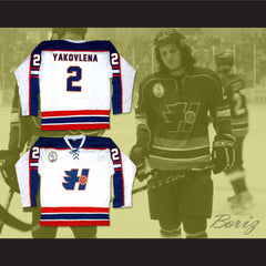 Evgeni Yakovlena 2 Halifax Highlanders Hockey Jersey Includes EMHL Patch Goon - borizcustom