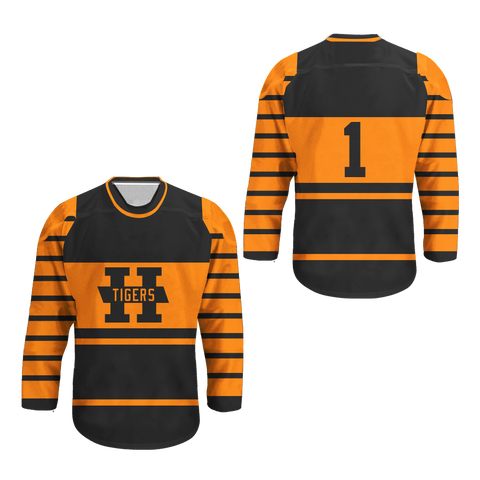 1924-1925 Hamilton Tigers Hockey Jersey Replica New Colors
