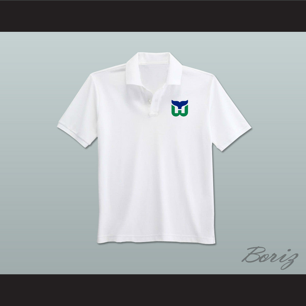Hartford whalers coaching staff embroidered logo polo shirt for Embroidered polo shirts miami