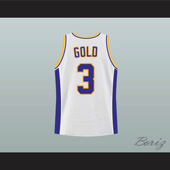 Zac Efron Mark Gold Hayden Warriors High School Basketball Jersey - borizcustom - 2