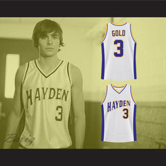 Zac Efron Mark Gold Hayden Warriors High School Basketball Jersey - borizcustom - 3