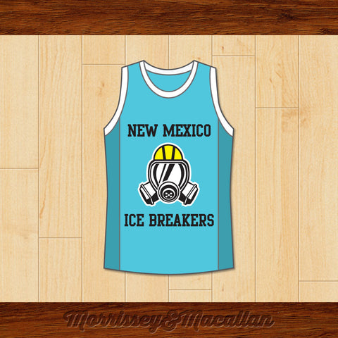 Walter White Heisenberg New Mexico Ice Breakers Basketball Jersey by Morrissey&Macallan - borizcustom