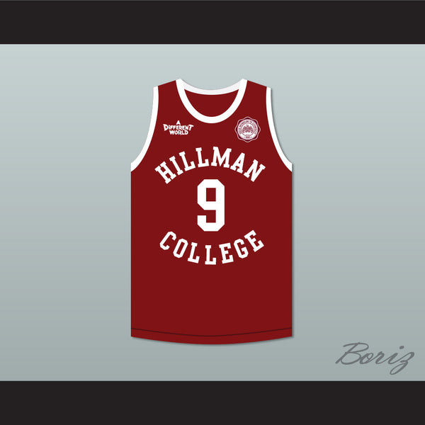 c6953d7b8e43 Product Image Dwayne Wayne 9 Hillman College Maroon Basketball Jersey with  Eagle Patch A Different World - borizcustom ...